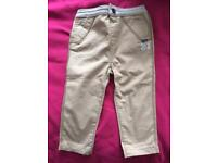 Boys Trousers 12-18 Months