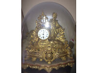 French japy Freres Ormolo Antiques Clock and Dome