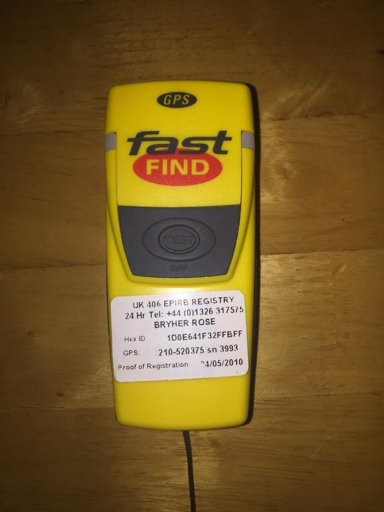 Mcmurdo Fast Find 210 PLB with GPS Satellite Personal Location Beacon   in  Blackwood, Caerphilly   Gumtree