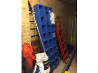 BLUE DVD AND OR CD SHELVING#