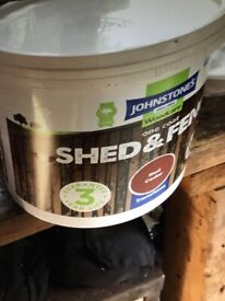 Johnson's Shed and Fence one coat