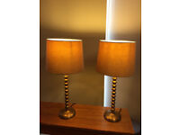 Beautiful pair of tall M & S metal table lamps