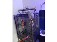 Large bird cage parrot cage and stand