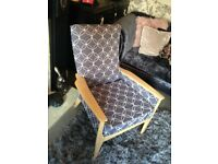 Parker Knoll 1960's armchair model number 988-1023 refurbished & reupholstered