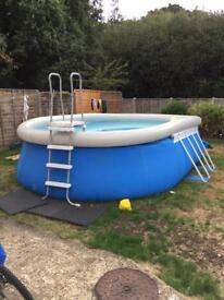 Bestway fast set oval 16 ft swimming pool setup