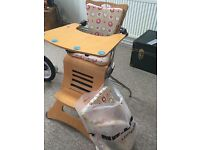 Kuster K1 wooden high chair with brand new spare set of cushions