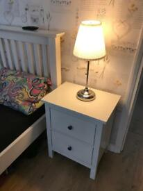 Ikea HEMNES Pair x 2 bedside table Chest of 2 drawers