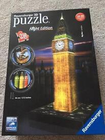 Ravensburger light up 3D puzzle - Big Ben £5