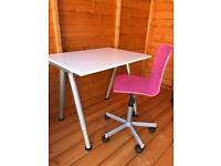 IKEA Childs Desk and Swivel Chair