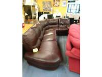 Deep brown leather corner sofa for 225