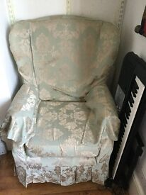 Tapestry Winged back Armchair - Excellent condition