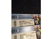 World darts championship. 2 great table seats for this amazing day out
