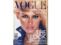 95 Copies of Vogue Magazine in good condition from 1990-2008 - £50