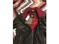Superdry leather coat