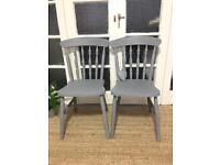 "PAIR CHAIRS ""Grey"" FREE DELIVERY LDN🇬🇧"