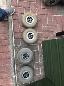 Wheels for mobility scooter