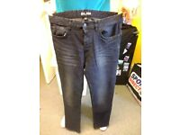 mens blue slim jeans 34 regular brand new