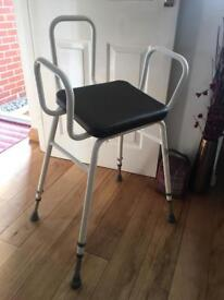 Zimmer frame with cushion seat