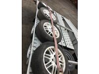 195/60 R15 Ford Focus 15' alloy wheels and tyres plus space saver
