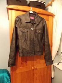 Black leather jacket - ladies