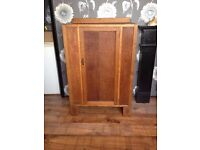 vintage walnut cupboard