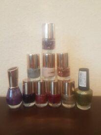 glitter nail varnish set