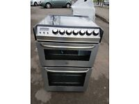 ZANUSSI ZCE7551X 55cm DOUBLE OVEN ELECTRIC COOKER-STAINLESS