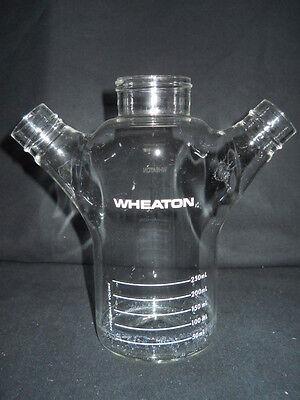 Wheaton Double Sidearm 250ml Celstir Spinner Flask No Caps 356879 Chipped