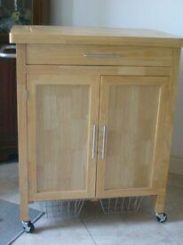 Argos Wooden Kitchen Trolley - assembled. In good condition.