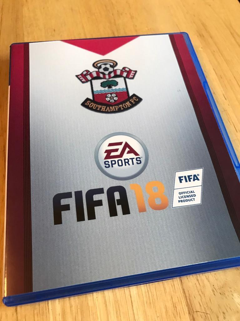 FIFA 18 with official Ea Southampton FC cover for ps4