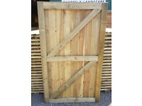 Super Heavy Duty Vertical Board Feather Edge Garden Gates Pressure Treated Fully Framed CHESHIRE