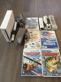 Nintendo Wii Console with selection of games