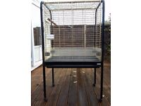 Large Bird Cage suitable for Parrot approx. H90cm x W85cm x D55cm (H1.45m overall)