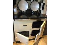 Redfyre range cooker with induction hob and 2 electric ovens, warm front model