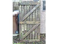 Large Wooden Garden Gate