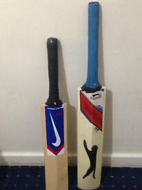 Nike and Slazenger cricket bat