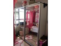 glass wardrobe in excellent condition ( collection only )