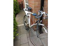 Raleigh gents racing bike blue 23in frame-£35