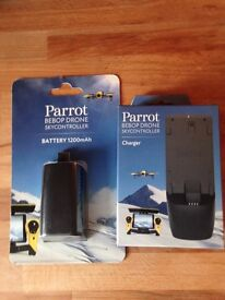 Battery and Charger 1200mAh PARROT NEW