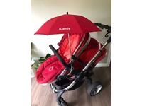 ICandy Peach Double/Single Pushchair Buggy with Accessories