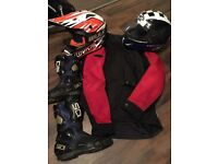 Bike gear helmet jacket