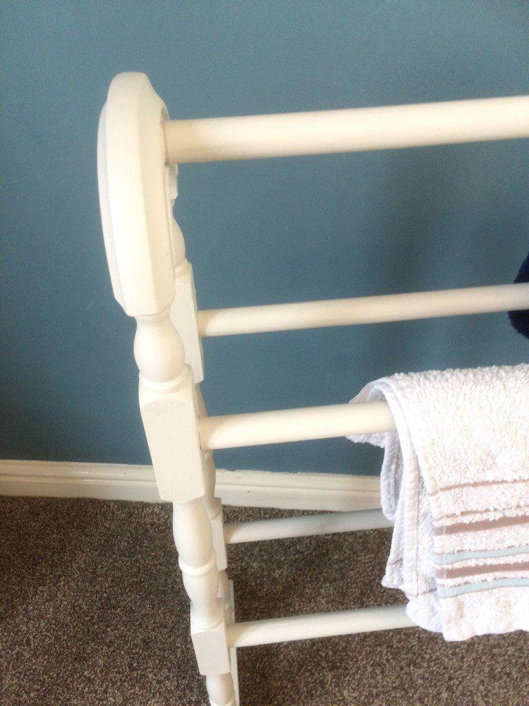 Wooden bathroom vintage style towel rail.Bathroom storage. | in ...