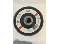 3M 125 mm(5 inch) flapping discs 5 discs heavy duty for metal or wood