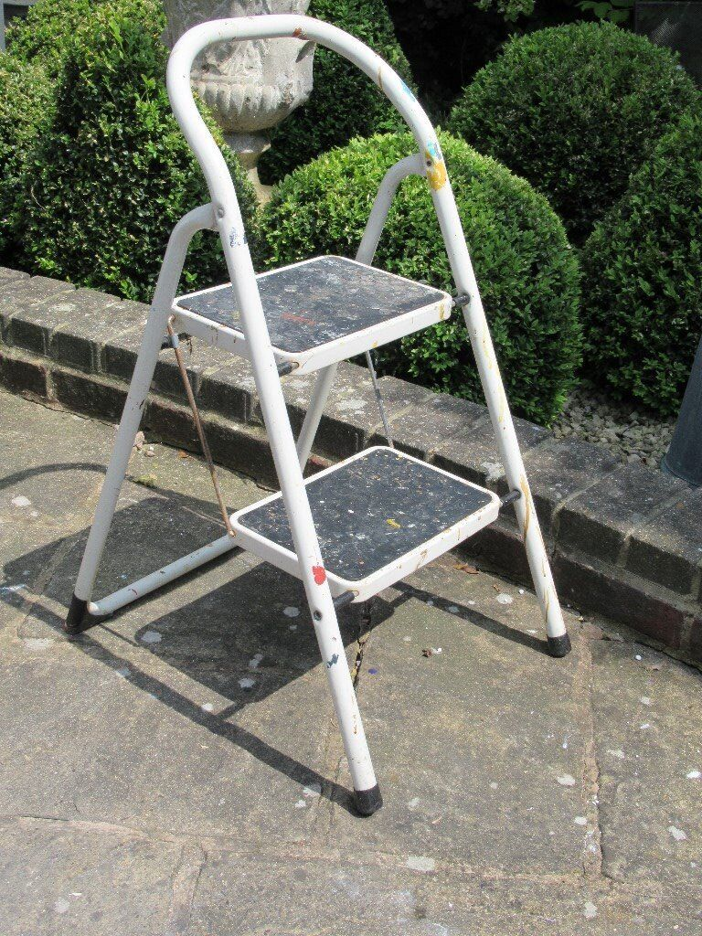 Excellent Brabantia White Metal Two Step Step Ladder In Laindon Essex Gumtree Bralicious Painted Fabric Chair Ideas Braliciousco