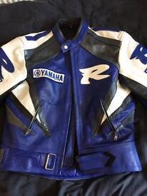 Yamaha leather biker jacket