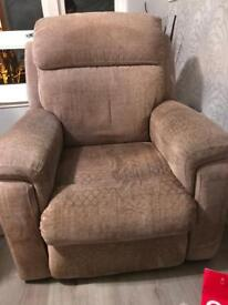 Electric recliner sofa + 2 chairs