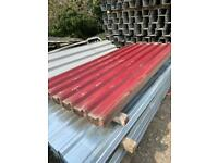 8ft x 1mtr (cover) PLASTIC COATED Dark Brick Red Box Profile Roofing Sheet