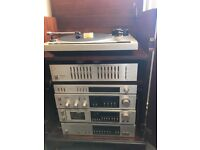 Pioneer vintage stereo stack system. Comes complete in its own mahogany cabinet.