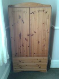 Wardrobe 'Tall Boy' style, with two drawers