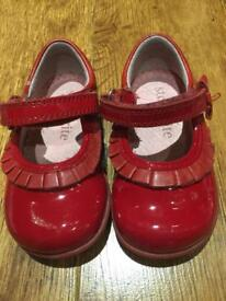 Startrite girls red patent shoes size 3G